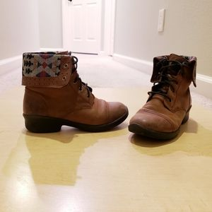 Keen Brown Tyretread Lace Boots Size 6